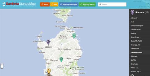 Sardinia Startup Map